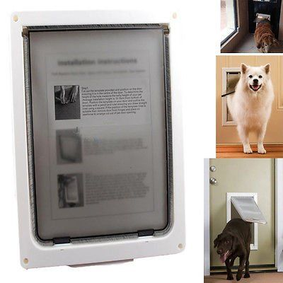 Dog / Cat / cat Door - Extra Large - 17' x 14' Flap - Telescoping Frame - NEW ** Review more details here : Cat Doors, Steps, Nets and Perches