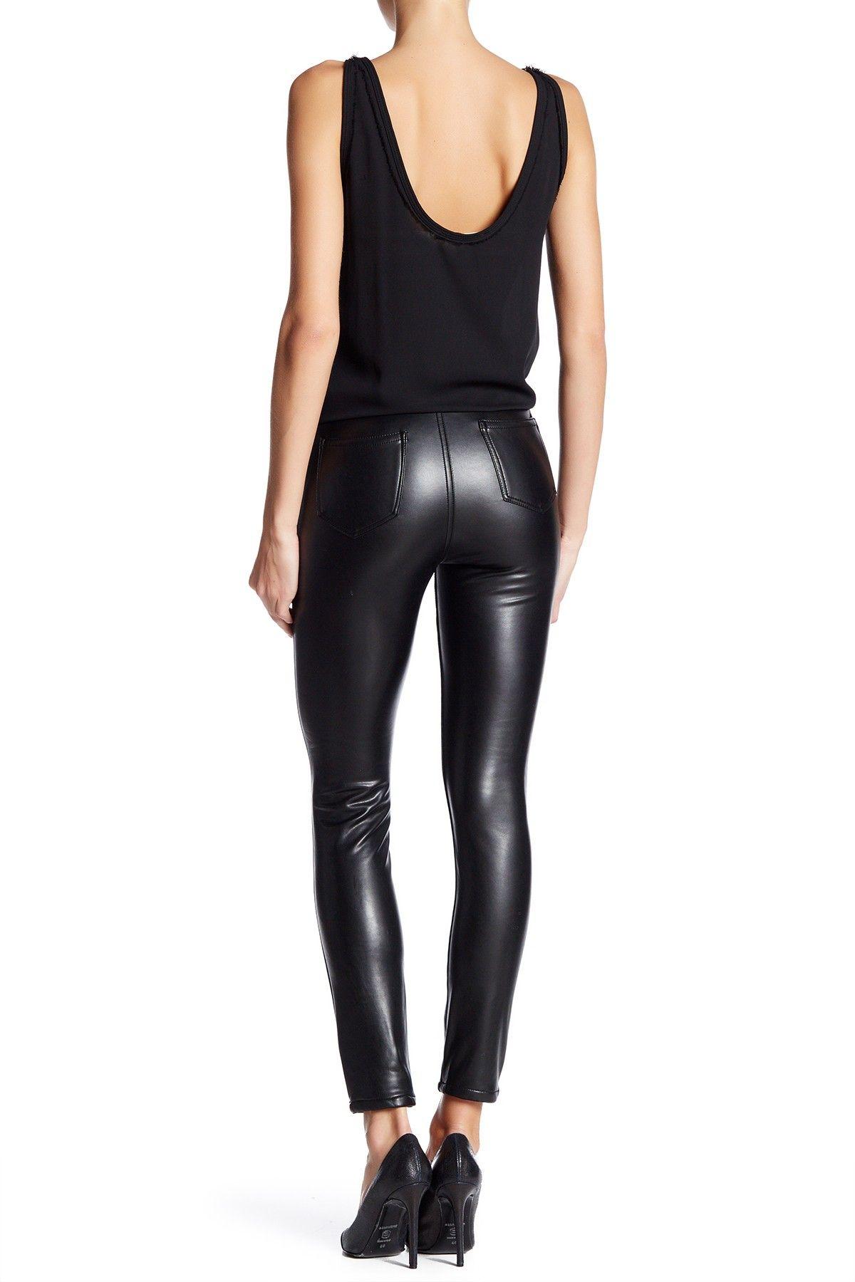 08fb1719a7 PU Skinny Pants by ASHLEY MASON on @nordstrom_rack ASHLEY MASON | High Rise  Faux Leather