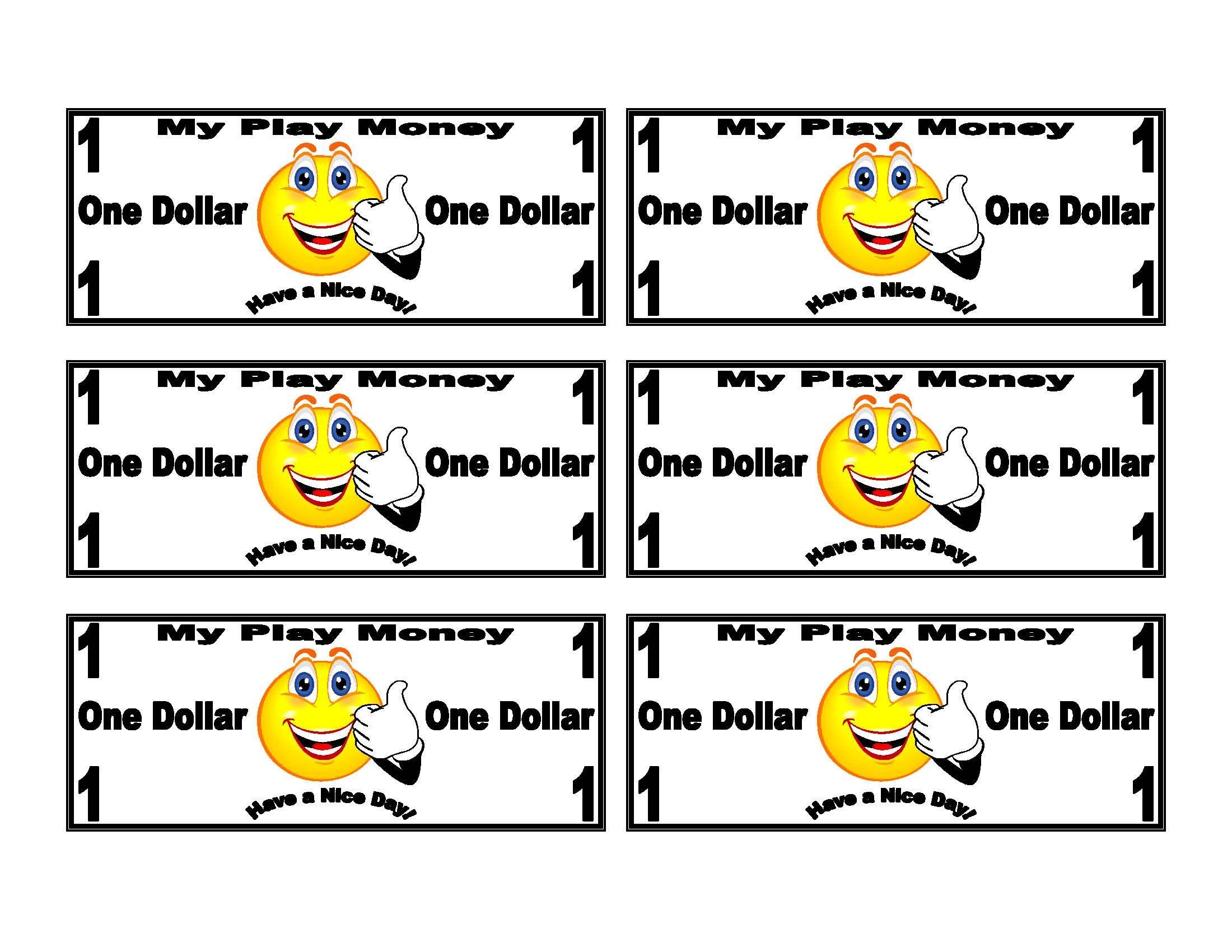 Smiley Face On Dollar Bill