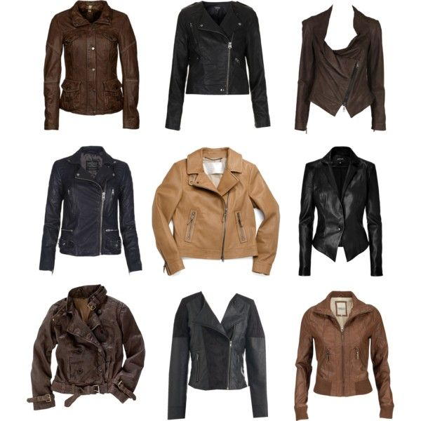Some very stylish leather jackets.