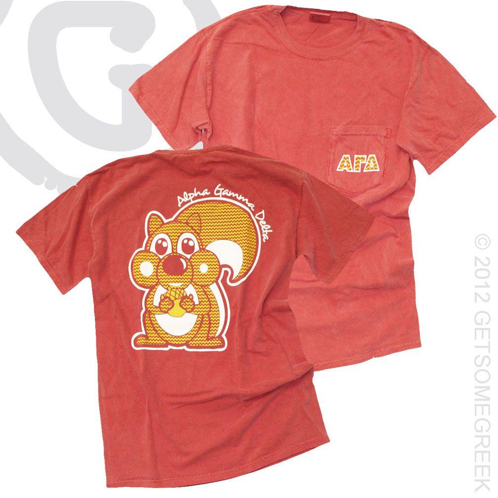 Alpha Gamma Delta Agd Squirrel Chevron Pocket T 28 50 Not