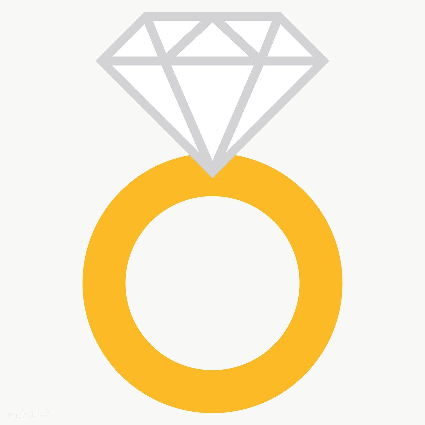 Diamond Ring Design Element Transparent Png Free Image By Rawpixel Com Chayanit Diamond Rings Design Wedding Ring Graphic Engagement Icon