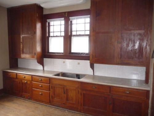Antique-Craftsman-Style-Kitchen-Cabinets-Circa-1915-Fir ...
