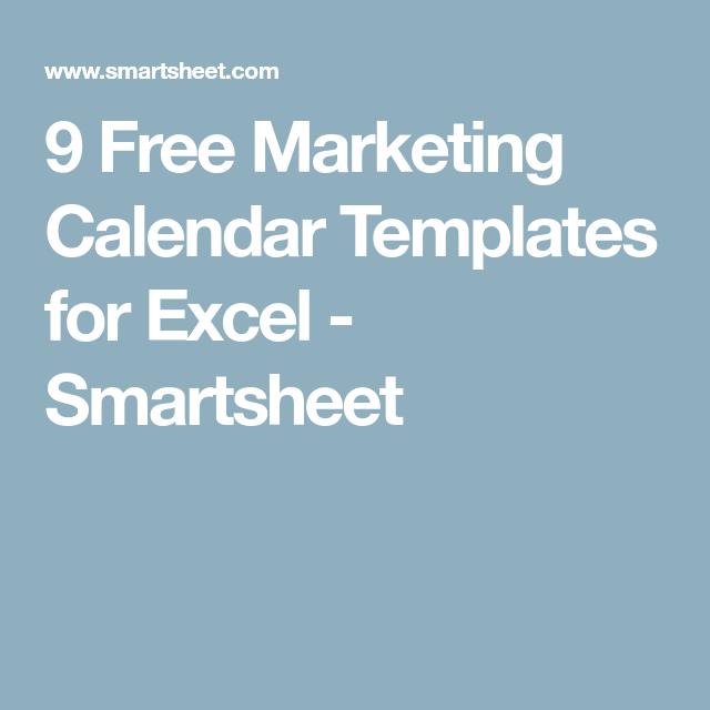 marketing campaign calendar template