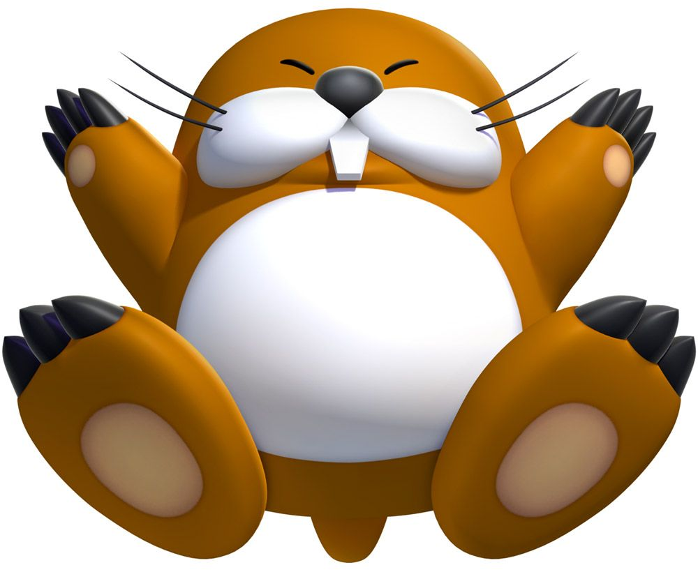 Monty Mole Characters Art New Super Mario Bros U Maulwurf Mario Susse Tiere