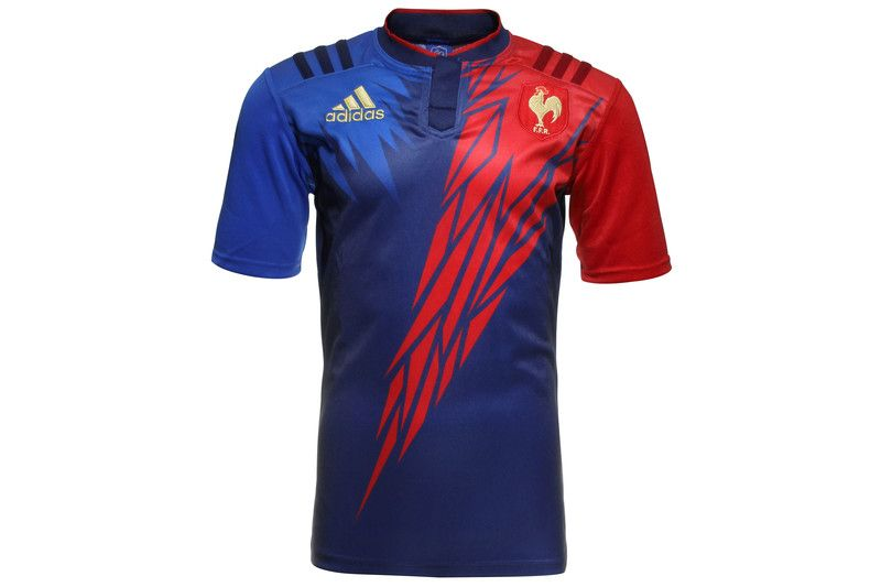 2be97949b62a1 France 7s 2014/15 Home S/S Replica Rugby Shirt Dark Blue/Power Red ...