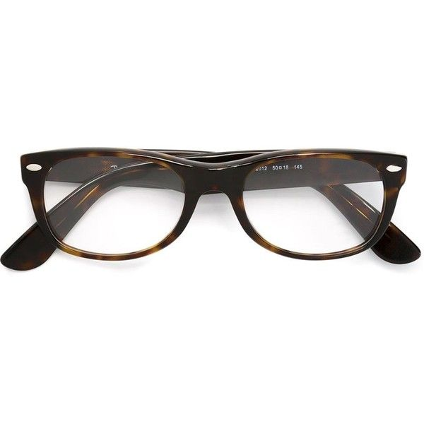be2523c9bf7 Ray-Ban  The Timeless RB5228  glasses ( 165) ❤ liked on Polyvore featuring  accessories
