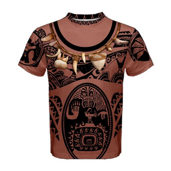 men 39 s maui moana inspired shirt by kawaiianpizzaapparel on