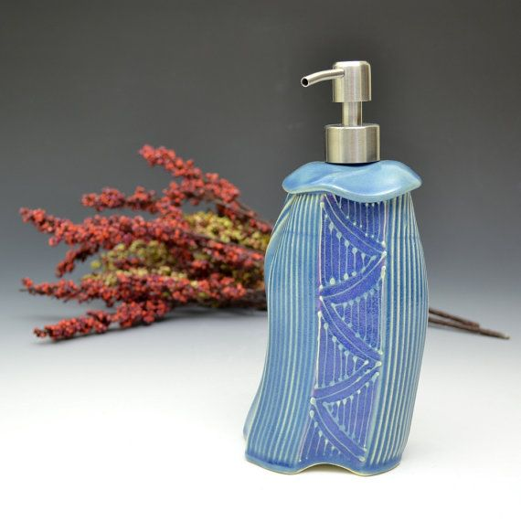 Soap Lotion dispenser - Handmade Whimsical Colorful Soap lotion bottle on Etsy, $52.00