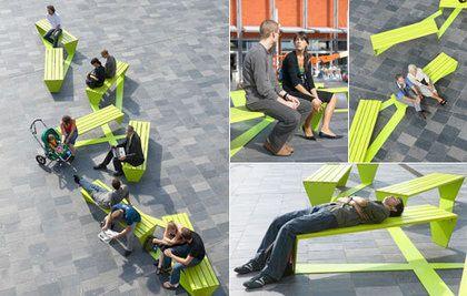 Banc urbain design le mobilier urbain et le design volution des concepts - Mobilier urbain design ...