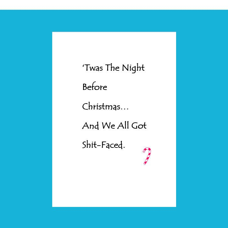 twas the night before xmasfunny xmas card funny christmas card handmade christmas - Twas The Night Before Christmas Funny