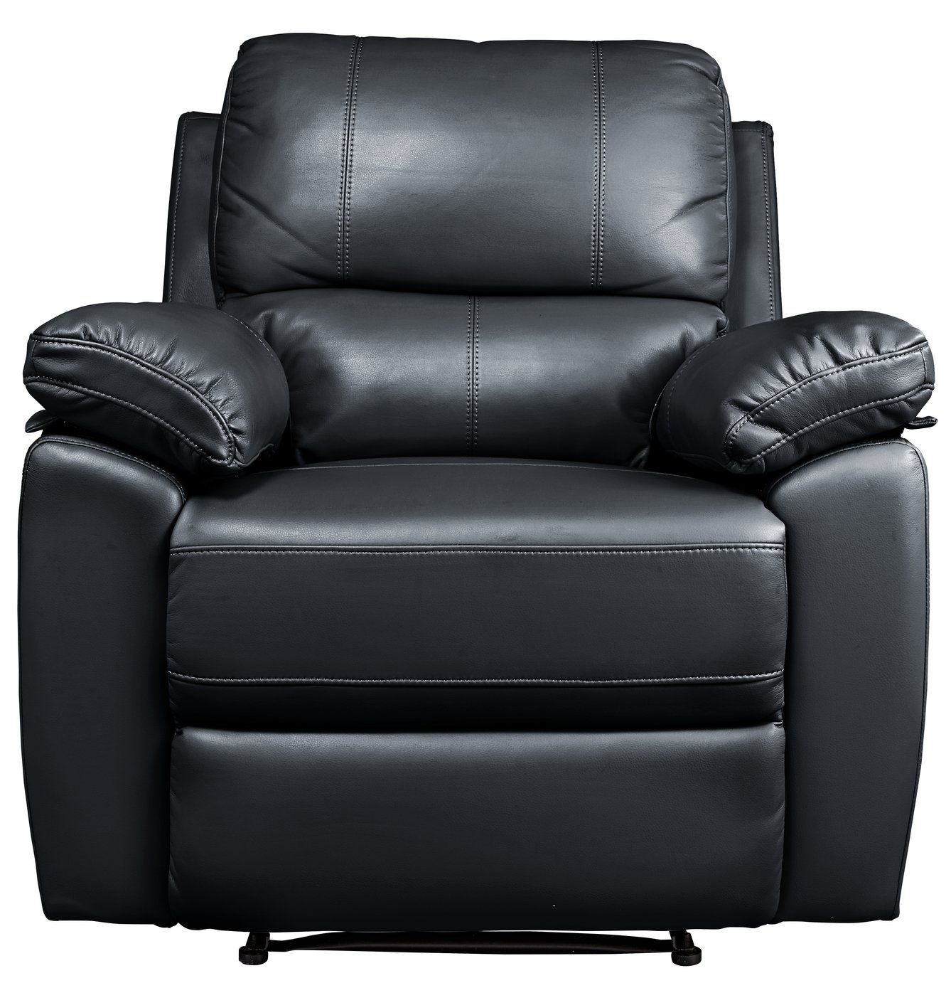 Argos Home Toby Faux Leather Manual Recliner Chair Black In 2020