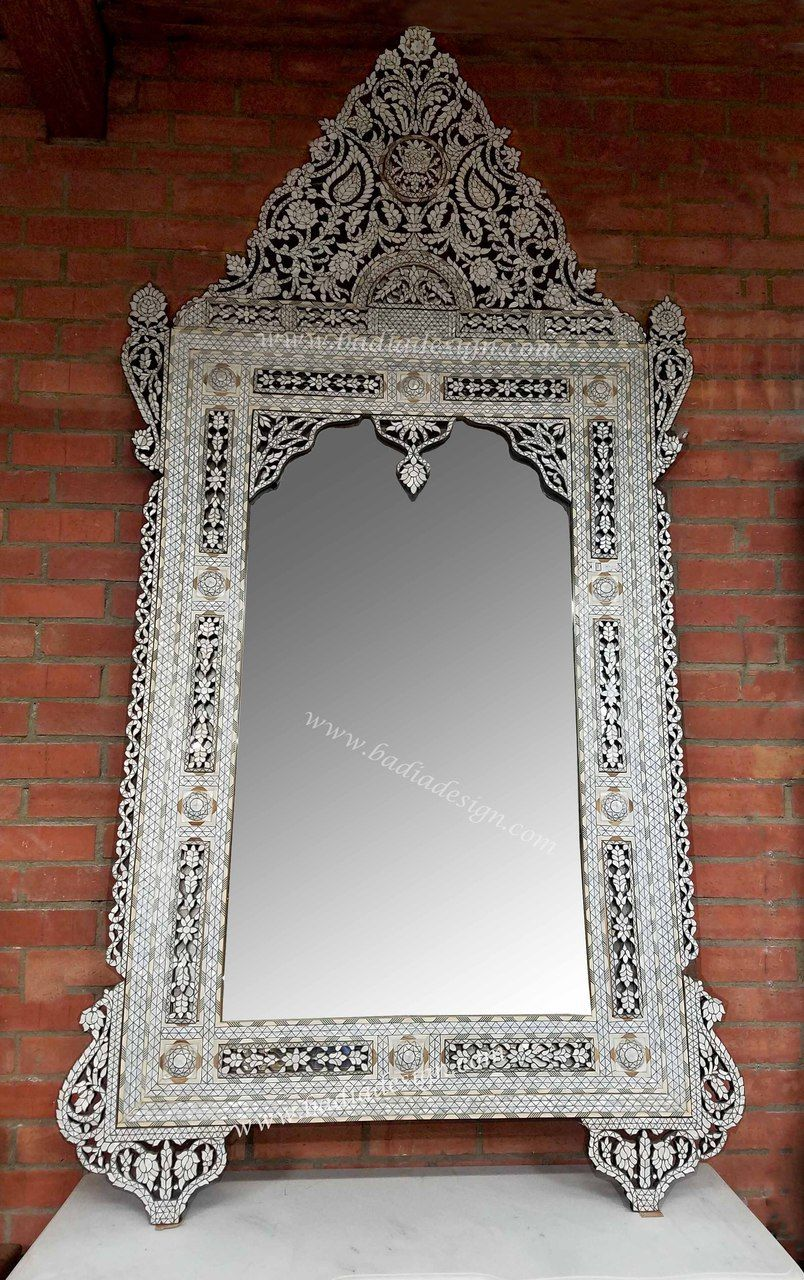 Tall White Mother Of Pearl Mirror M Mop020 Mother Of Pearl Mirror Fancy Mirrors Mirror