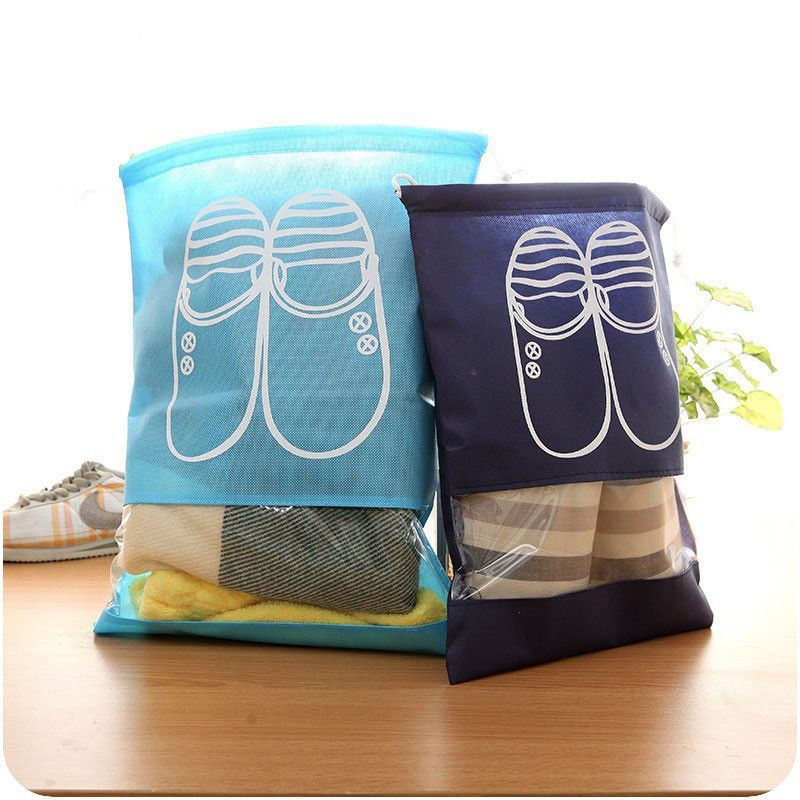Home Sport Shoes Storage Bag Dust Pouch Travel Bag Portable Tote Drawstring Bag Organizer Cover Non-woven Laundry Organizador Storage Bags