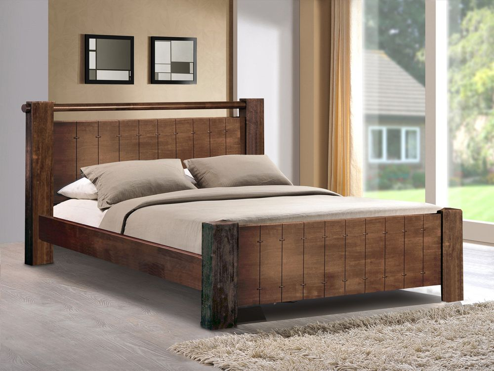Sweet Dreams Mozart King Size Walnut Bed Frame Home Bedroom