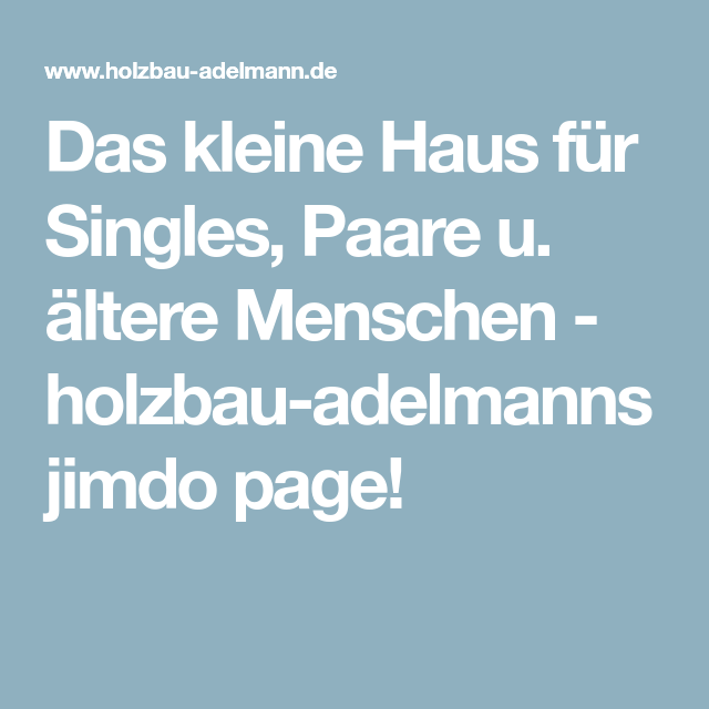 ältere Singles