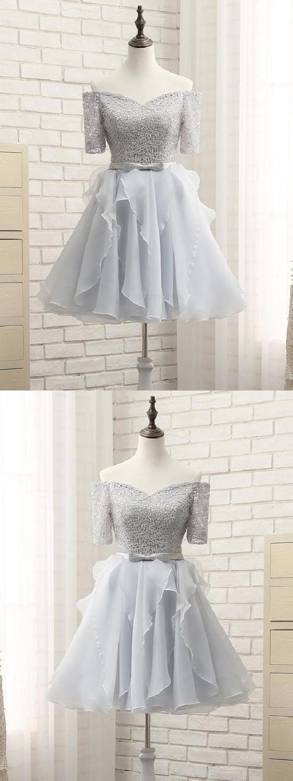 Homecoming dress short prom dresses silver homecoming dress
