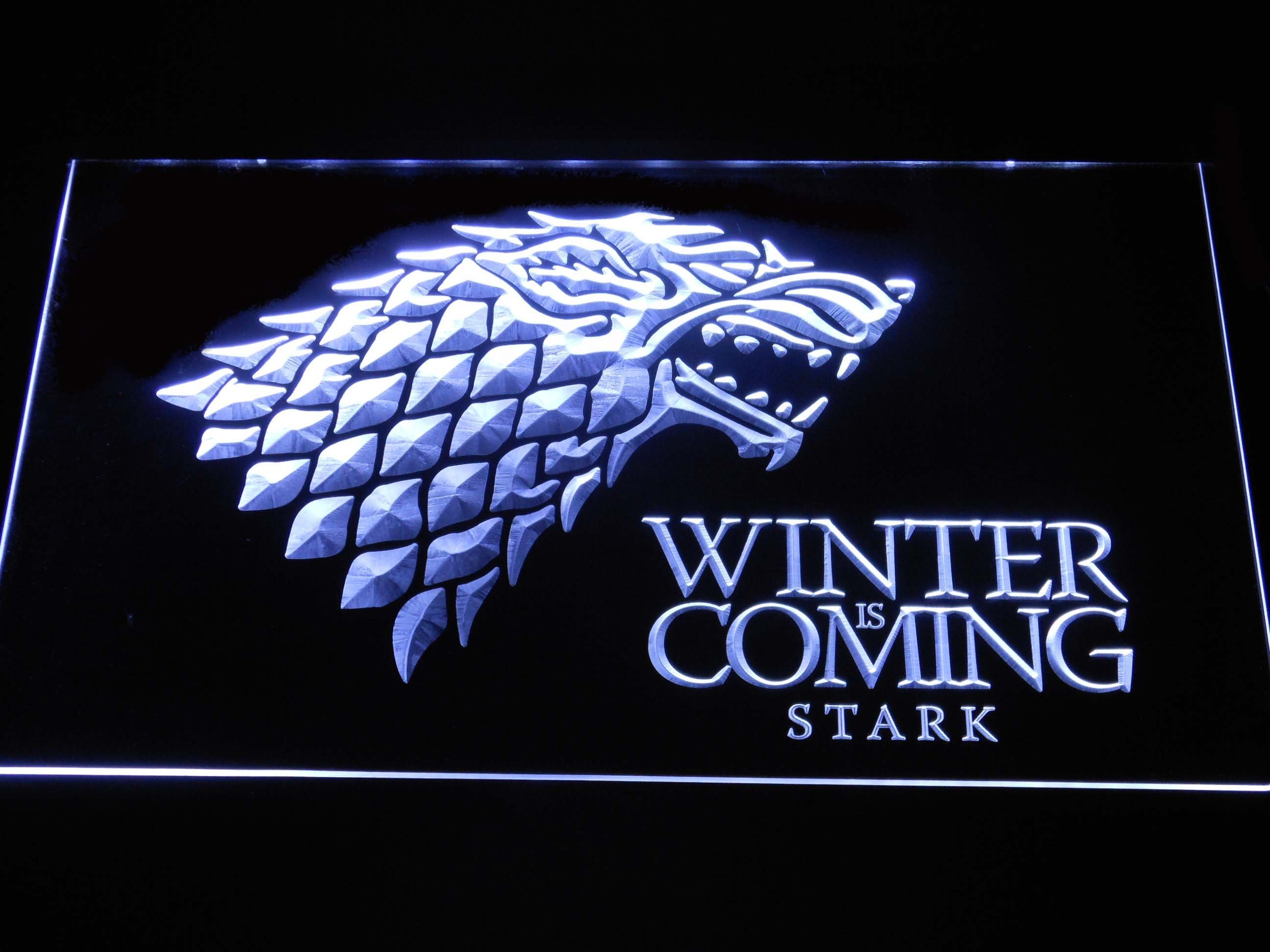 Game Of Thrones Stark Winter Is Coming Led Neon Sign In 2019