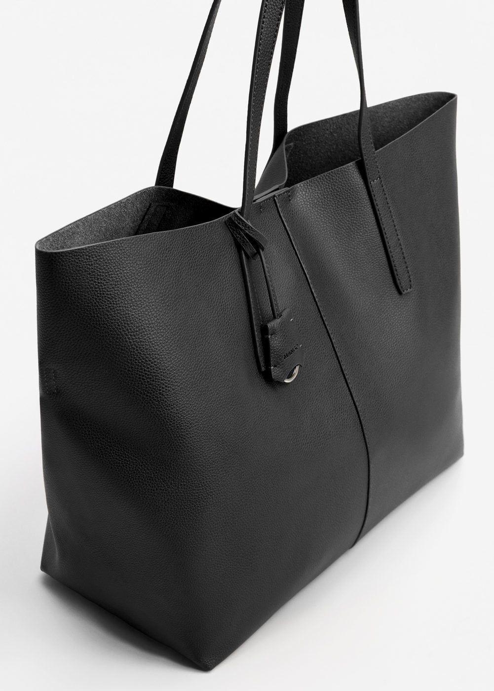 74f84f97c59 Pebbled effect shopper bag - Women   MANGO USA