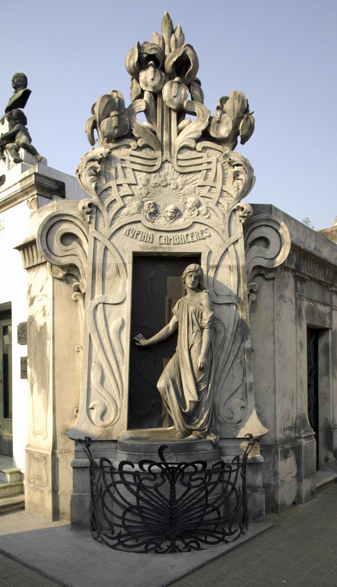 Art Nouveau Mausoleum Of Rufina Cambaceres In La Recoleta Cemetery In Buenos Aires