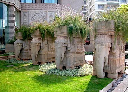 Elephant plant holders at Hyderabad hotel | I Elephants ... on gardens in srinagar, gardens in tokyo, gardens in india, gardens in lahore, gardens in bangalore, gardens in nairobi, gardens in kashmir, gardens in seoul, gardens in beijing, gardens in bangkok,