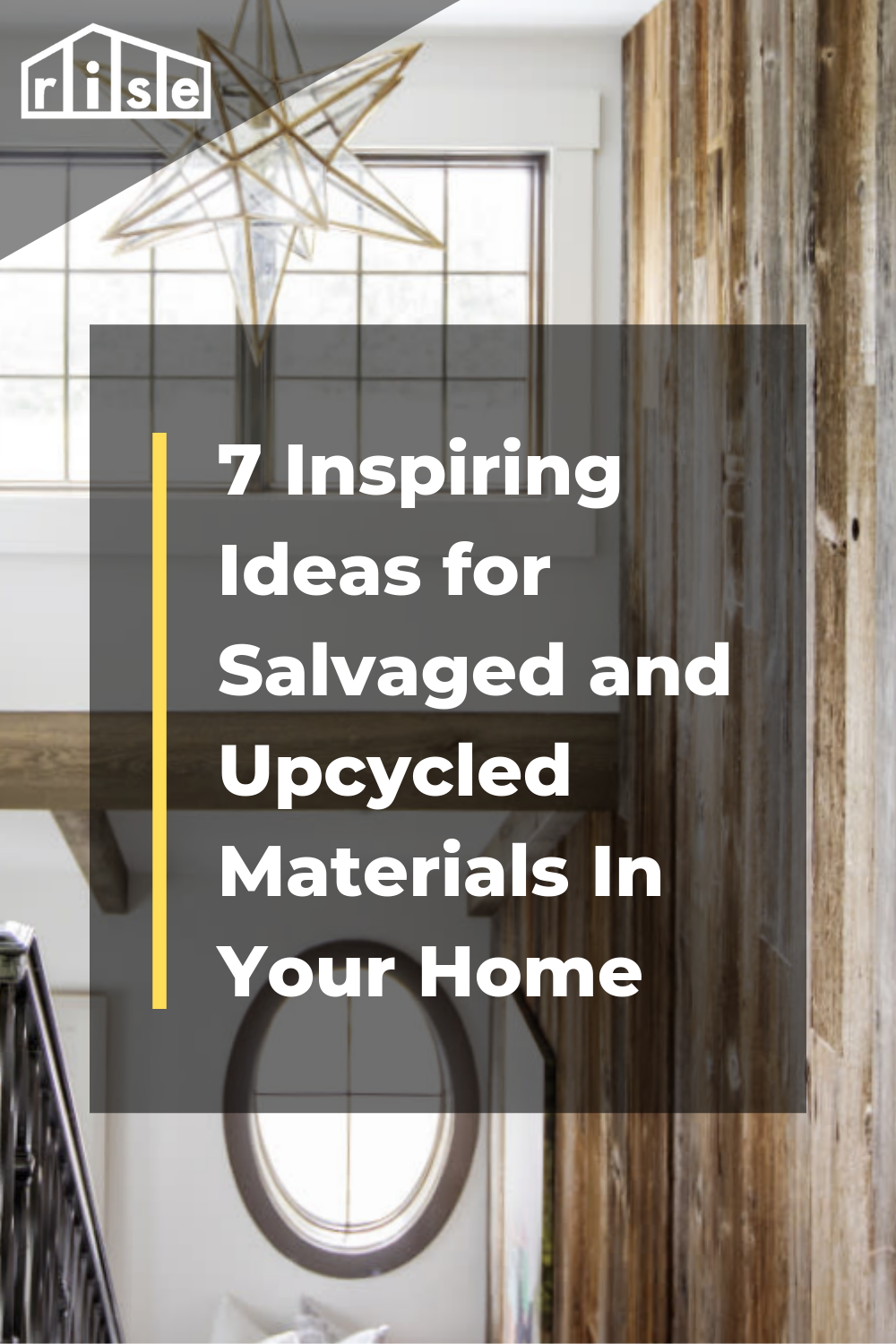7 Ideas For How To Use Salvaged And Upcycled Materials Into Your