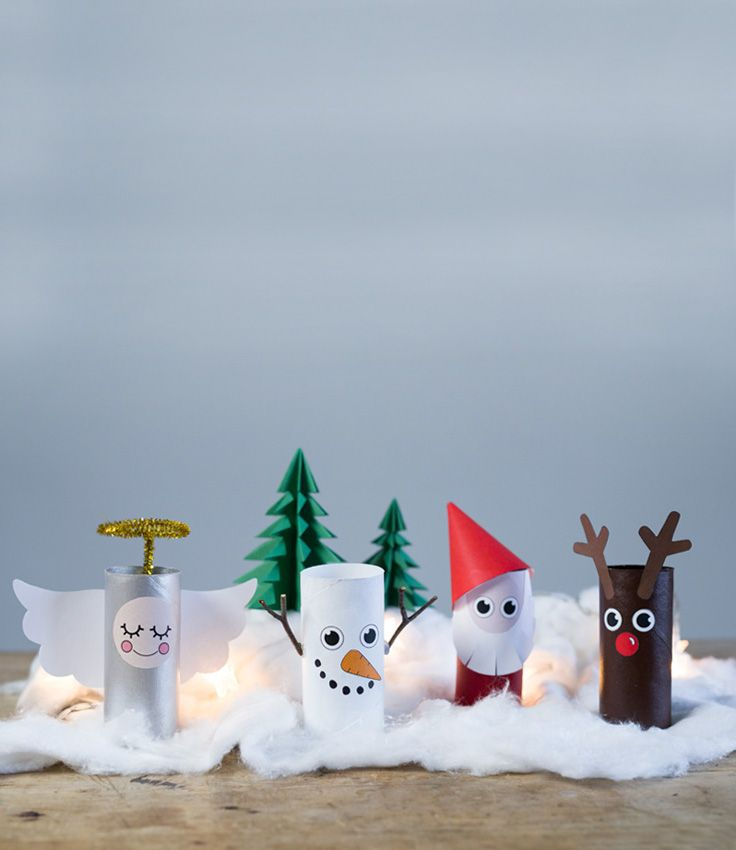 DIY – Indoor Christmas Landscape From Paper Rolls