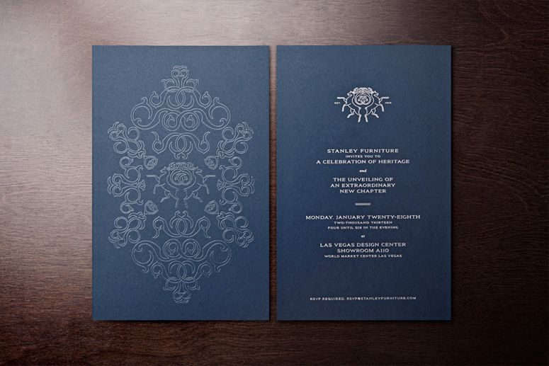 Stanley Furniture MODE developed invitations to their flagship – Launching Invitation Card