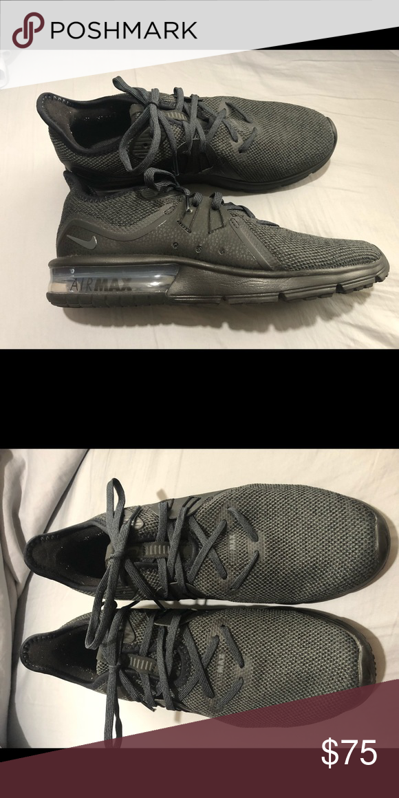 Nike Air Max Women s running shoes. Charcoal in color and practically brand  new. Size 8 46f0e63002