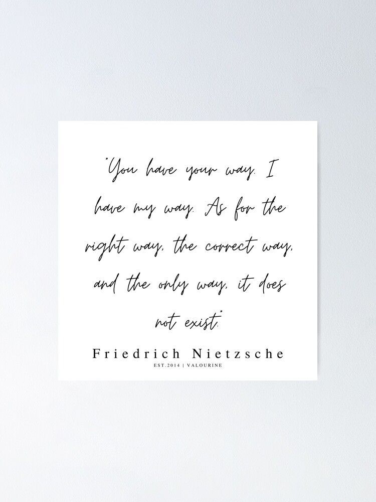 41  | 200319 |  Friedrich Nietzsche Quotes Poster by QuotesGalore