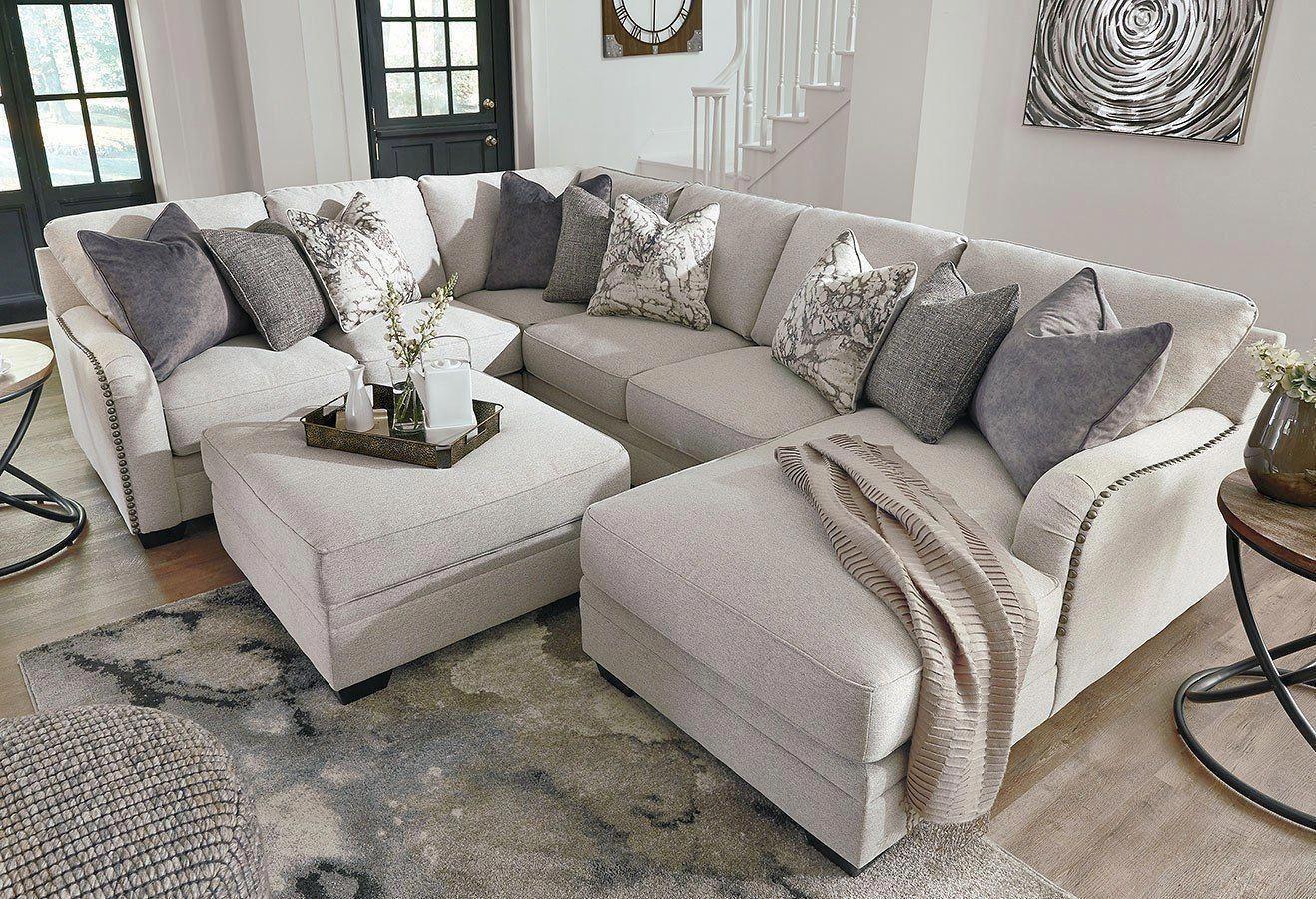Dellara Chalk Modular Sectional Set in 2020 | Living room ...