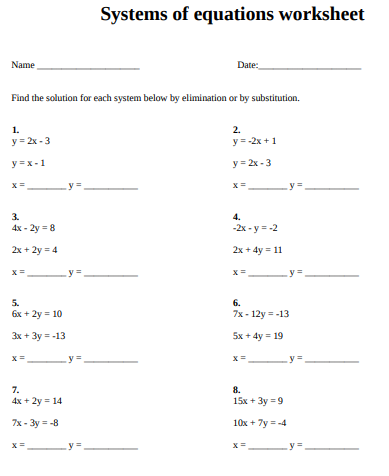 Linear equations worksheet ideas in 2021
