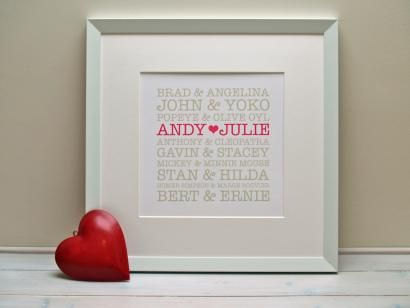 Onefineday Happy Couples White Frame - The perfect gift for Couples ...