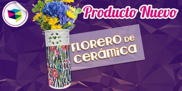 FLORERO DE CERAMICA