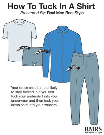 4 Ways To Tuck In A Dress Shirt Wear Your Shirts Perfectly Using Shirttail Garters Shirt Tucked In Mens Outfits Real Men Real Style