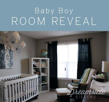 Grey Walls White Furniture Navy Accents Baby Boy Rooms Baby