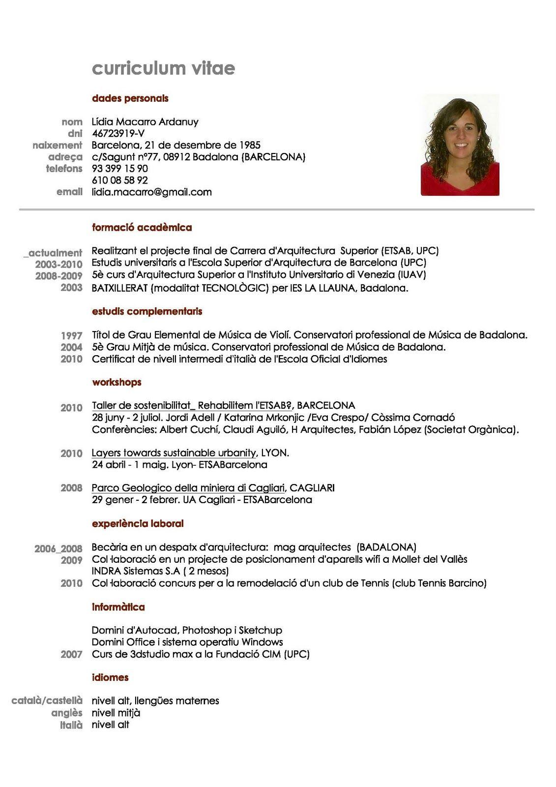 Curriculum Vitae Para Completar simple E Imprimir Latino Foto L ...
