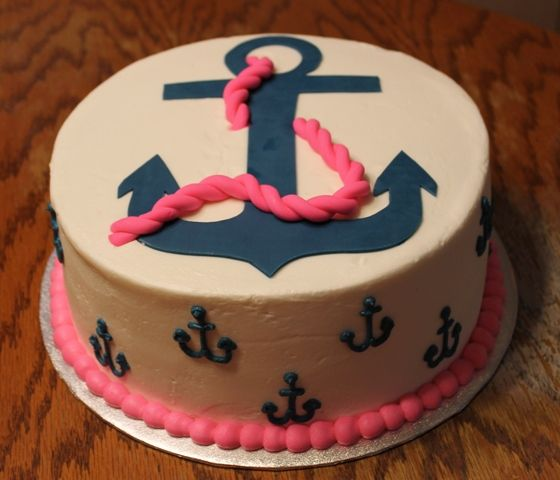 Marvelous Anchor Cake Anchor Birthday Cakes Anchor Cakes Nautical Cake Funny Birthday Cards Online Alyptdamsfinfo