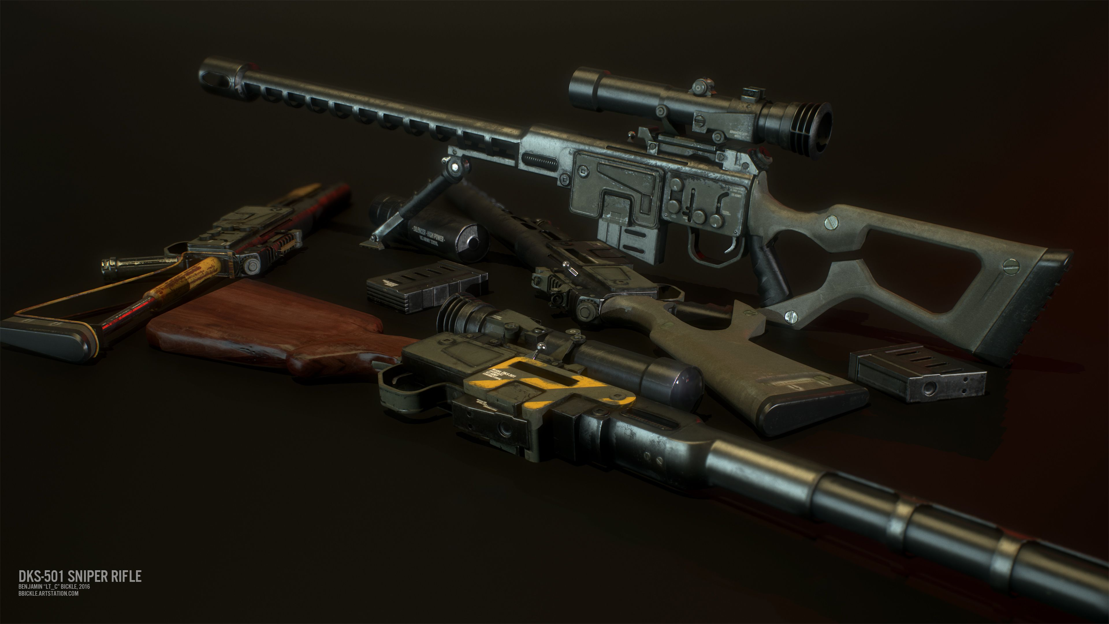 DKS-501 Sniper Rifle - Standalone at Fallout 4 Nexus - Mods