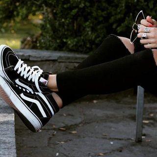 Sk8 Hi Slim | Shop Shoes | High top vans outfit, High top