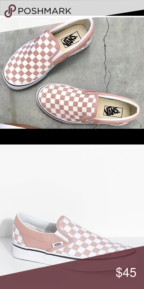 9fc70b0f36 VANS In Checkered Blush EUC CHECKERED BLUSH SLIP-ON GENTLY USED- will post  Flaws