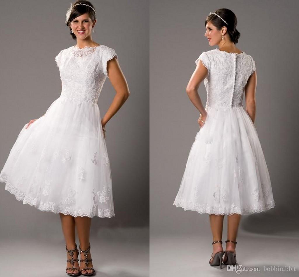 Lace Wedding Dresses Vera Wang Short Beach Garden Wedding
