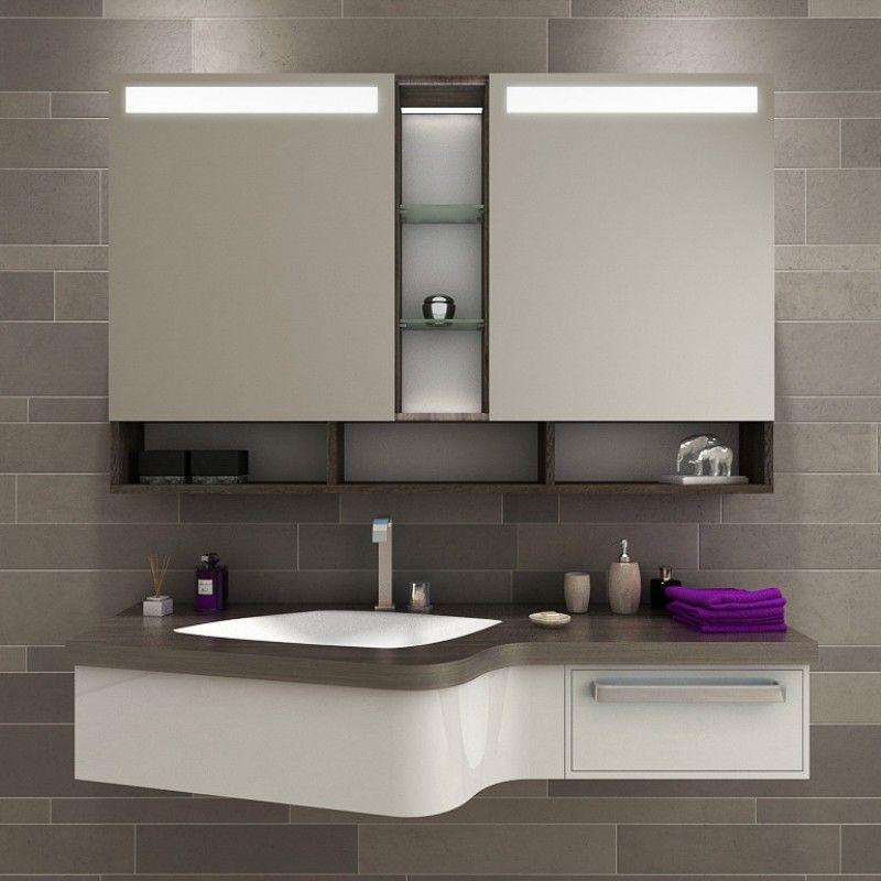 Traumhafter LED Bad Spiegelschrank nach Maß Dieser moderne