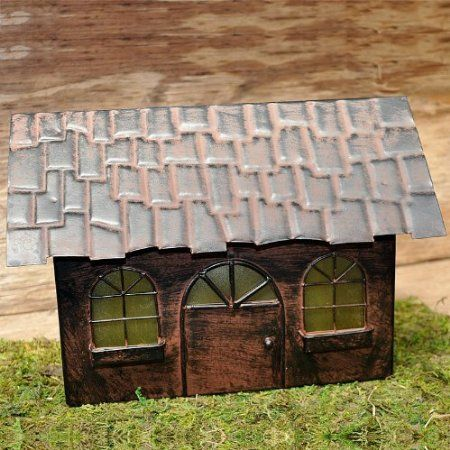 Amazon.com: Miniature Fairy Garden Solar Fairy Home: Patio, Lawn & Garden