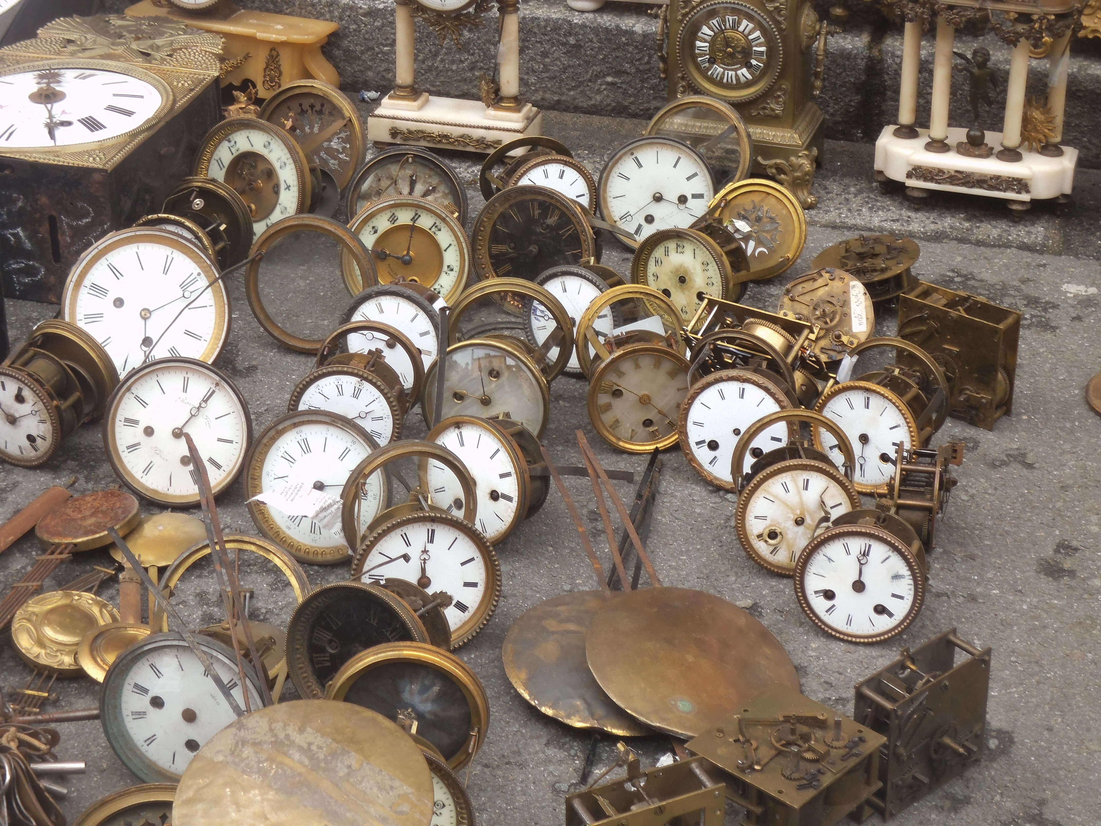 The Flea Market At Belfort Vieux Quartier In The Northeast Of France