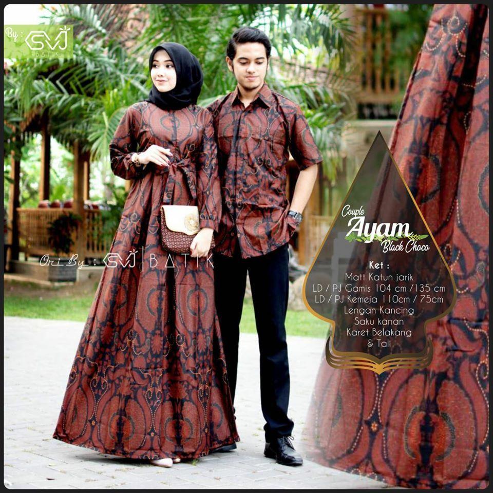 TERBARU, WA 8-8-8 Gamis Batik Cantik Couple di 8