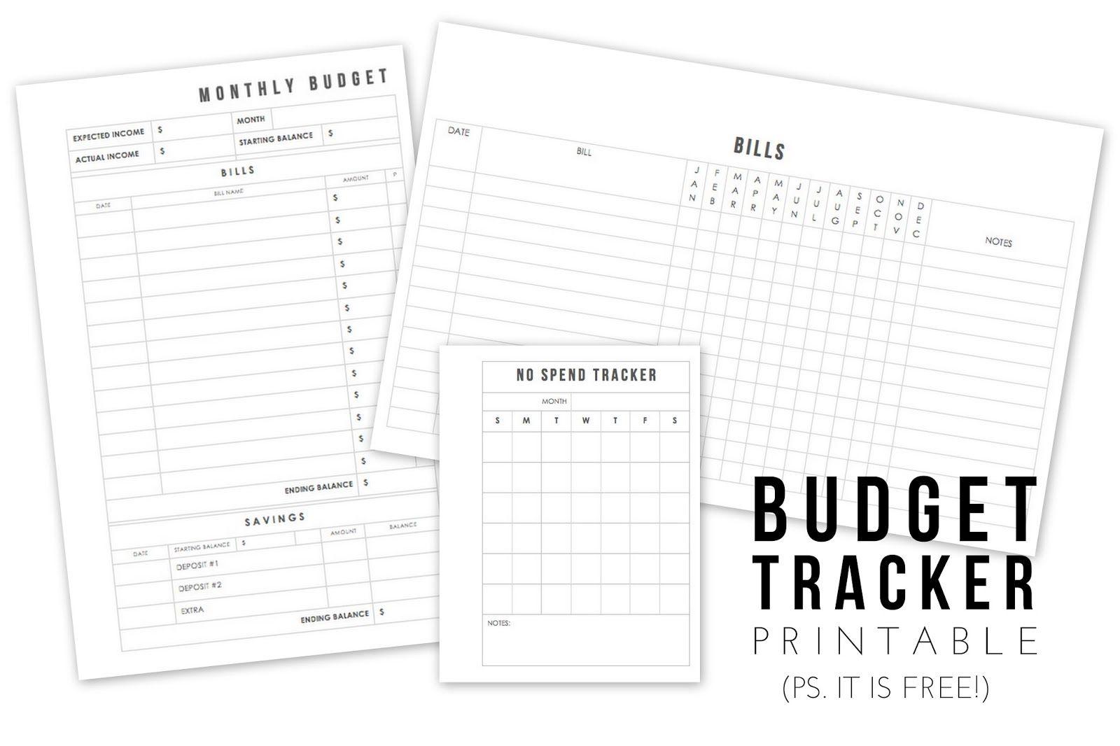 No Spend November Free Budgeting Filofax Inserts