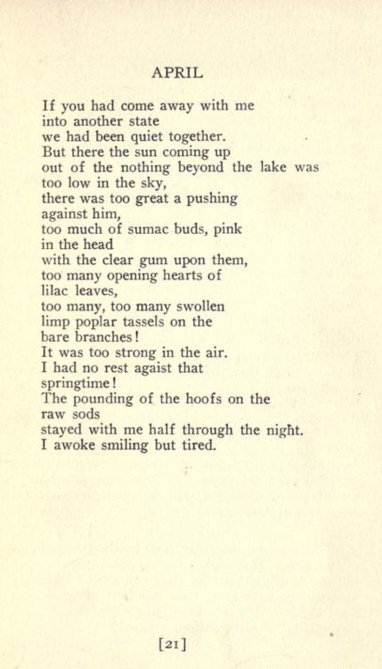 April William Carlos Williams Love Quotes Poetry Poems