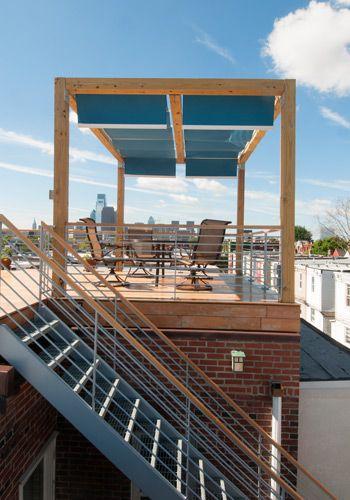Mershon Design Philadelphia Roof Deck Stair Railing Design Roof Deck Deck Remodel