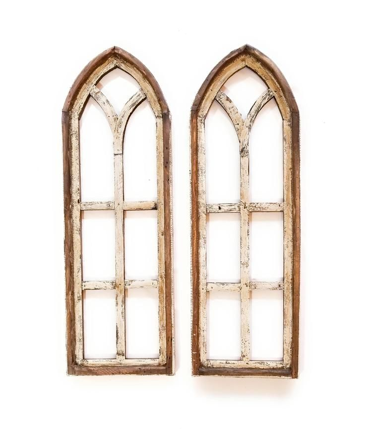 Accent Wall Effects Windows: Set Of 3 Farmhouse Wooden Paradise Window Collection- The